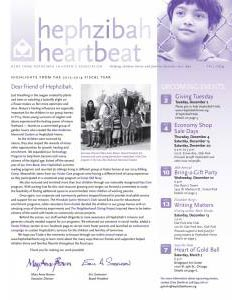 Hephzibah Fall 2014 Newsletter