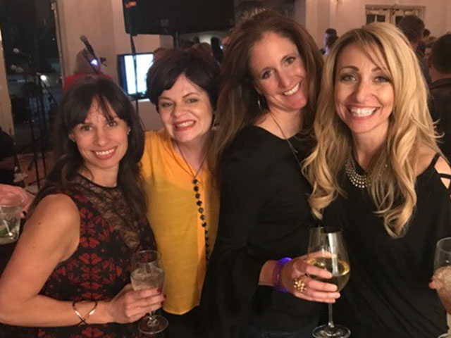 Penny Latta, Lisa Diomede, Megan Scheck and Tami Wanless are part of the Western Auxiliary Board whose members organized the Rock 'N Roll event.